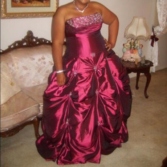 Plus Size Plum Prom Dress
